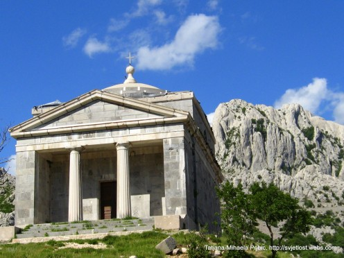 Croats like to build churches everywhere. This one is dedicated to st.Francis, built in 1832.