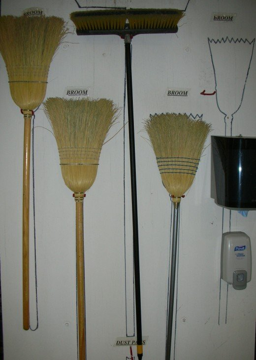 Almost everyone knows of or owns a common straw broom
