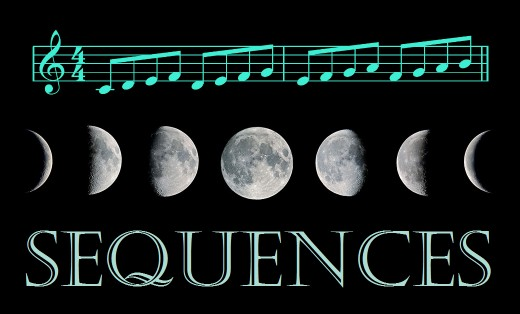 Musical patterns and phases of the moon are examples of sequences.