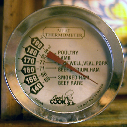There are different types of food thermometers including dial types.
