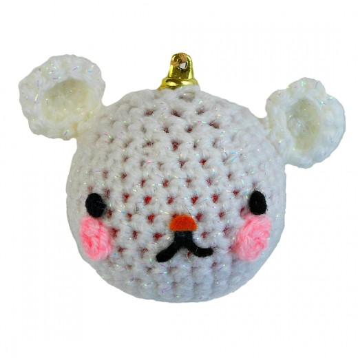 CrochetedSnow Bear Bauble