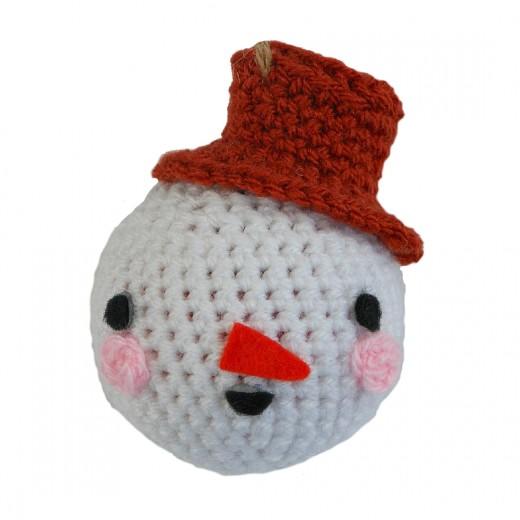 Crocheted Snowman Bauble