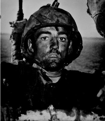US soldier similar to ones who would have faced stiff Japanese resistance.