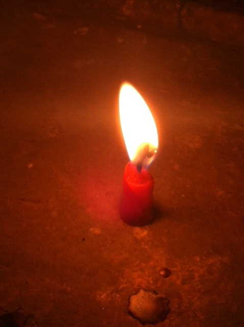 Concentration by starting at a lighted candle