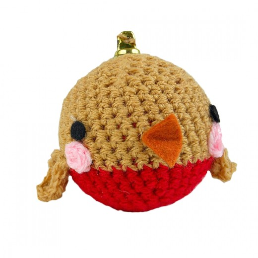 Crocheted Robin Bauble