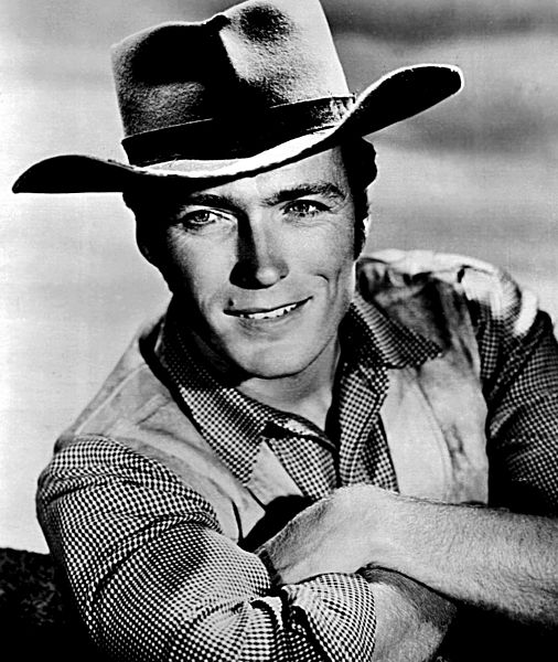 Clint Eastwood starred as  Rowdy Yates on CBS  TVs Rawhide