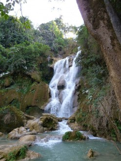 Visiting Waterfalls Near Luang Prabang