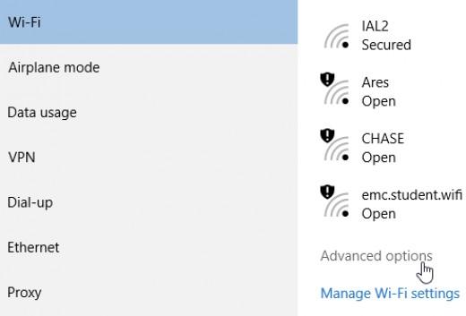 Enabling Metered Connection Windows 10
