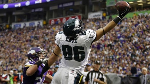 Philadelphia Eagles TE Zach Ertz likes playing against the Giants in New Jersey