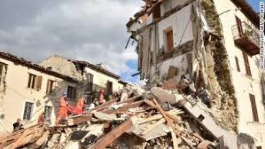 This photo that we have taken from the internet, is one of the many buildings severally damaged during the earthquake.