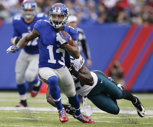 Philadelphia Eagles CBs couldn't stop NY Giants WR Odell Beckham Jr and the rest of the Giants WRs