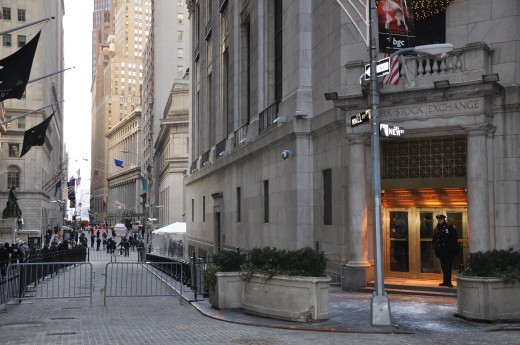 Wall Street - the home of much financial activity!