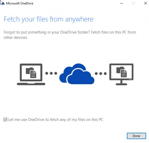 Fetch Files From One Drive PC