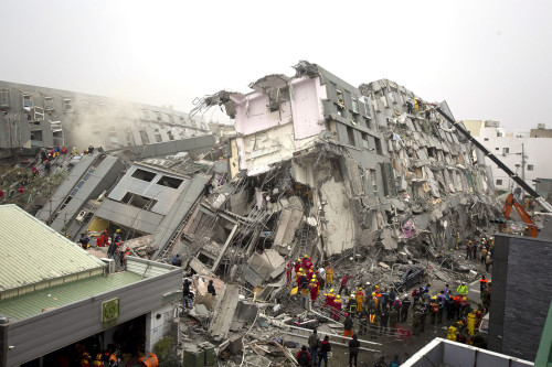 6.4 earthquake February 2016 Taiwan