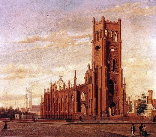 St. John Baptist destroyed in the Great Fire of 1861