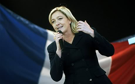 Marine Le Pen taking inspiration from Trump's victory.