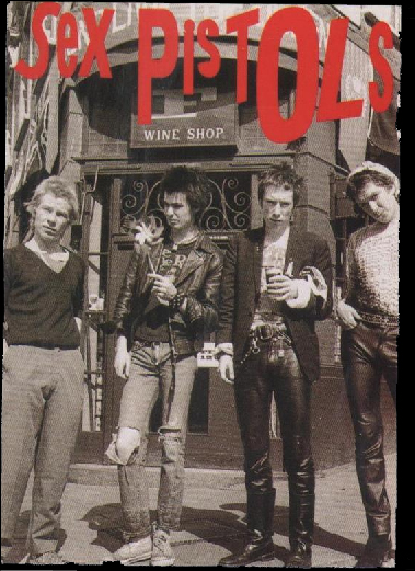 Sex Pistols caused a storm in the seventies with Punk Rock kicking against the establishment.
