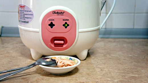 Funny Rice Cooker Face is Sick and Puking