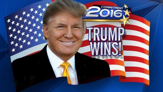 Donald Trump declared winner of the 2016 US election.