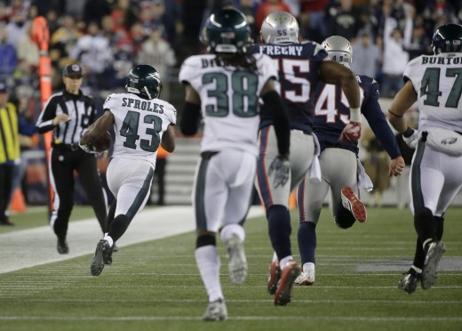Philadelphia Eagles RB Darren Sproles is due for a punt return TD
