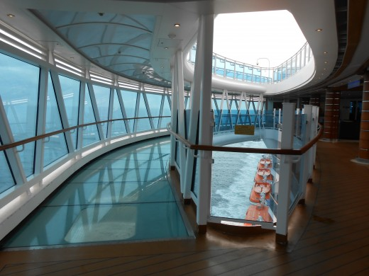 The SeaWalk on the Royal Princess cruise ship.