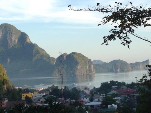 A view from a standard double room of El Nido View Deck Cottages, around US$40 a night with breakfast for 2
