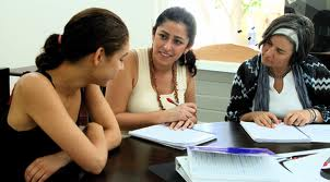 Reviewing with students in discussion groups allow them to help each other in the learning process.