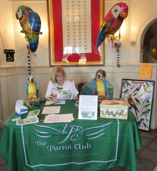 Gearing up to greet guests to The Parrot Club's Birdie Bash in East Hartford, Connecticut. - Photo by George Sommers