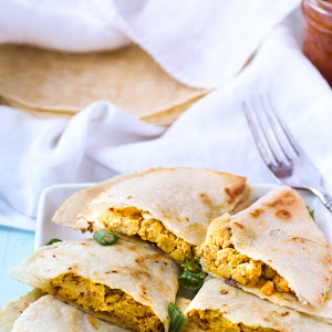 Here's a great recipe for Pumpkin breakfast quesadilla.