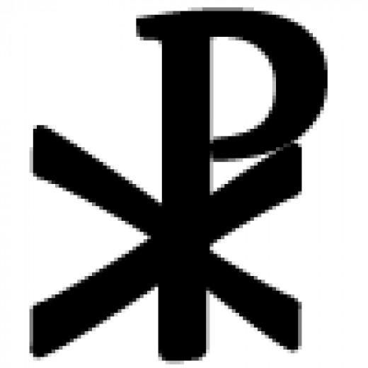 Chi Rho symbol worn by some Punk Christians