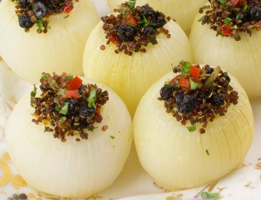 Delicately prepared soft and tender white onions with spicy topping