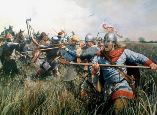 Hereward takes on the Normans in the Fens - until the 17th Century Ely was an island surrounded by black water lodes, tidal rivers and marsh. Not the kind of terrain the Normans were used to in their war-making