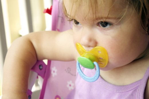 A pacifier will surely help when you are outside.