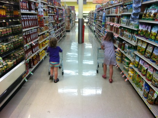 Kids can learn and have fun at the same time while shopping.