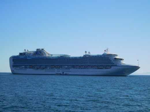 The Ruby Princess cruise ship.