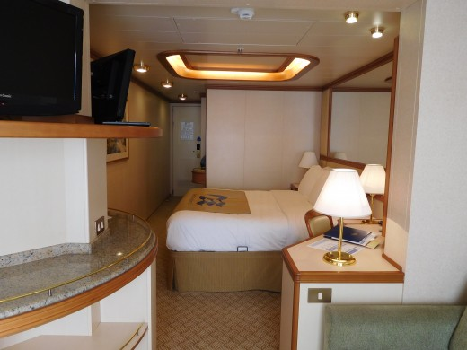 Our mini-suite on the Ruby Princess.