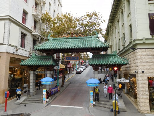 Gate to China Town in San Francisco.