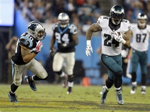 Philadelphia Eagles RB Ryan Mathews (R)