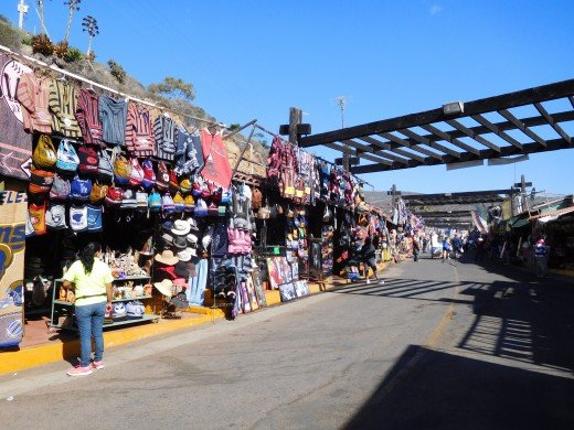 Flea Market in Ensenada, Mexico.