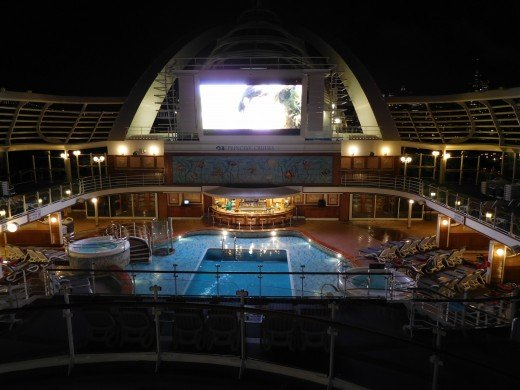 Movies Under the Stars screen on the Ruby Princess.