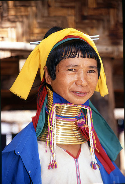 Karen woman from Birmania