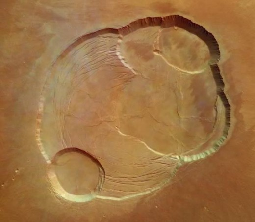 Image of Olympus Mons biggest volcano on Mars