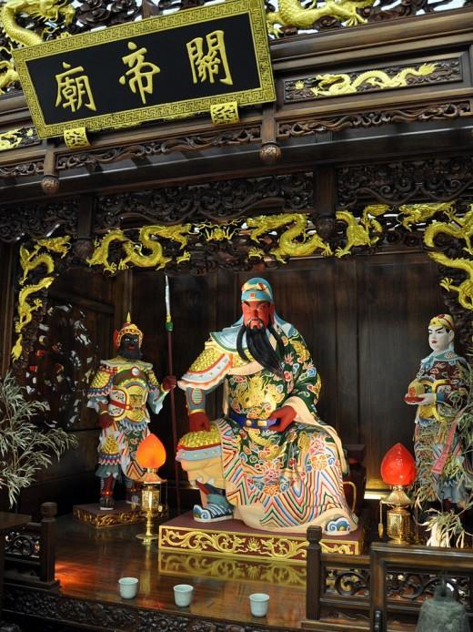 A shrine to Guan Yu.
