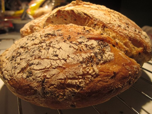 Bread is often used for grounding