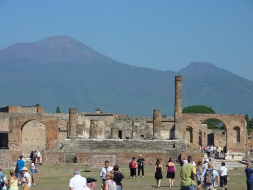 Roman town of Pompeii destroyed by Vesuvius some have posed the theory any life on Mars could have been destroyed by volcanic activity