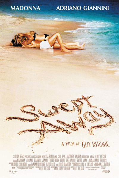 Poster for Swept Away (2002). Property of Screen Gems.