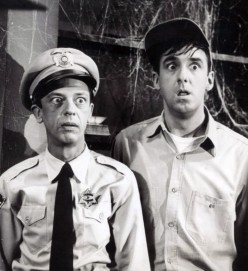 Jim Nabors, right, was Gomer Pyle on  Andy Griffith Show in 1964