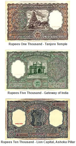 Previously Demonetized Indian Currency