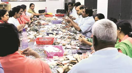 Collections at a Hindu Shrines