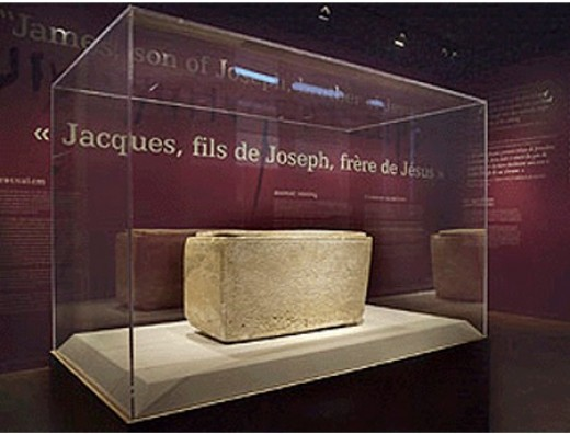 James Ossuary on display